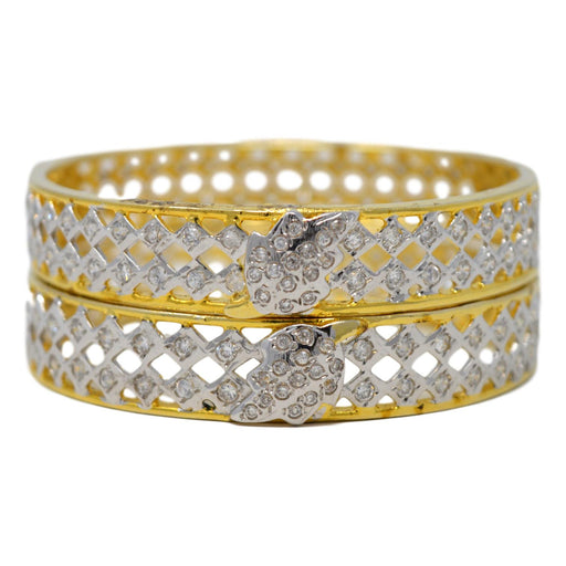 American Diamond  Bangle Pair Stacked