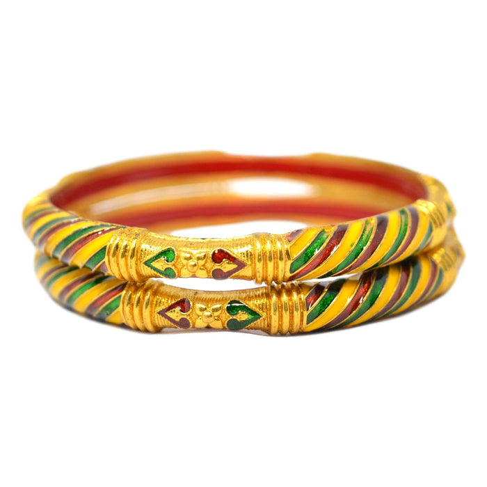 Meena design & Kada Bangles Top View