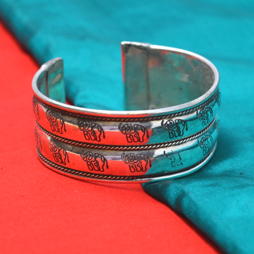 Engraving Oxidised  Bracelet