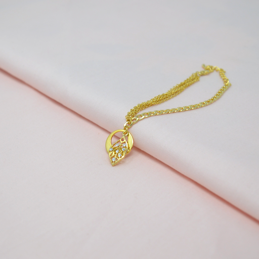 American Diamond Leaf Charms Bracelet Color