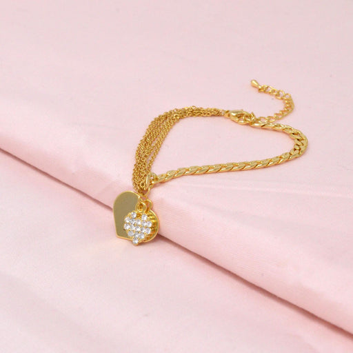 Golden American Diamond Bracelet Color