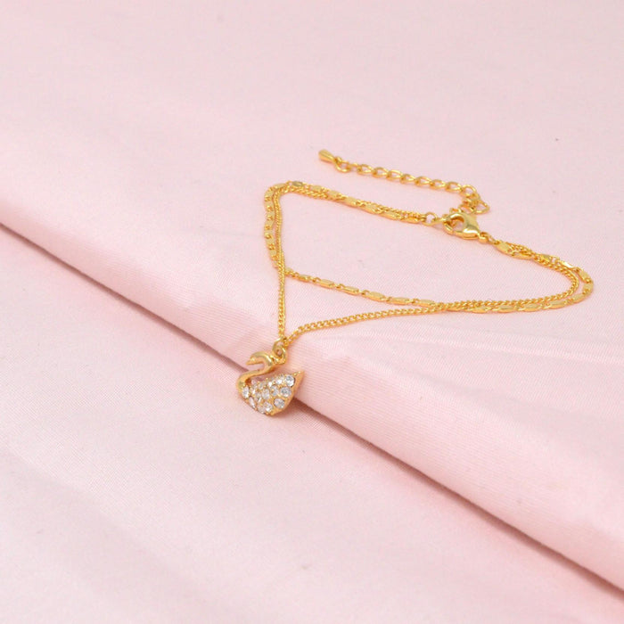 Golden American Diamond  Peacock Bracelet Color