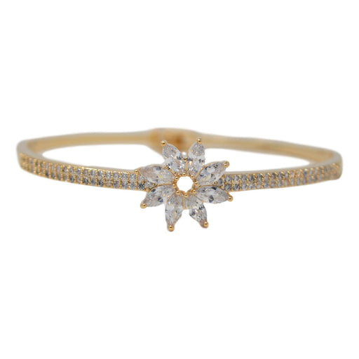 American Diamond Flower Bracelet Front View
