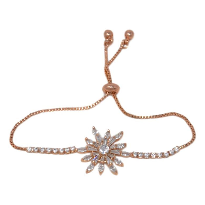 Rose Gold Flower American Bracelet Front View