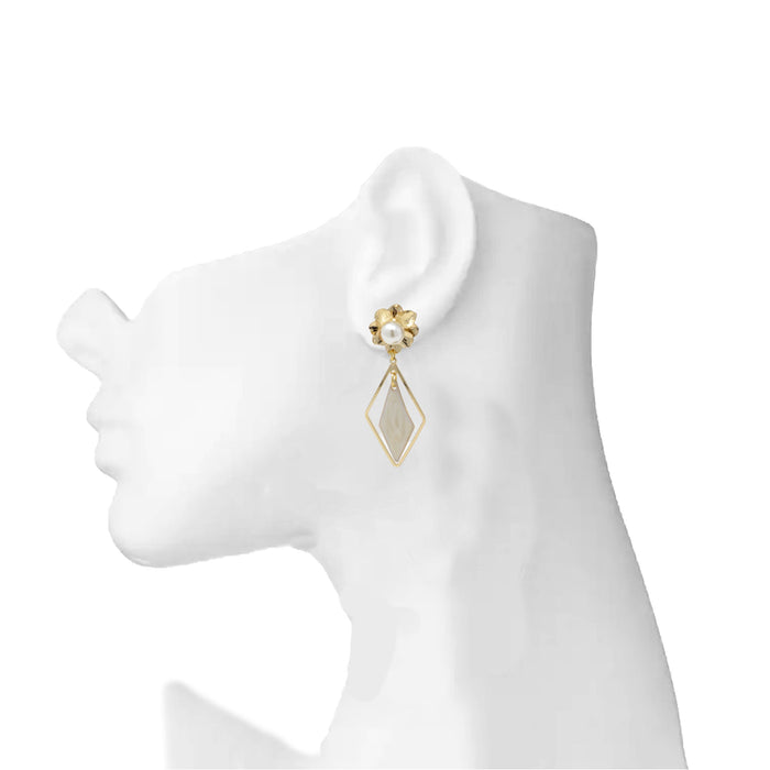 Golden Moti Earring On Mannequin