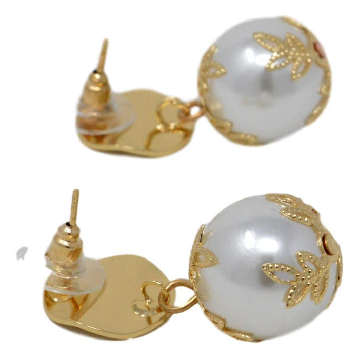 Golden Moti Earring  Back View