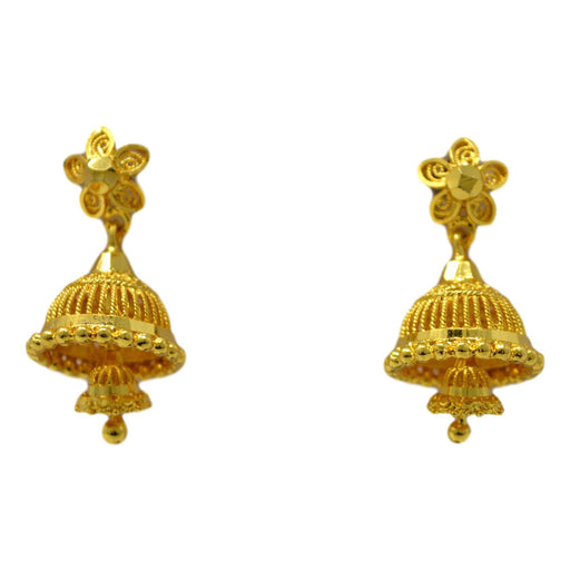 Golden Jhumki Front View