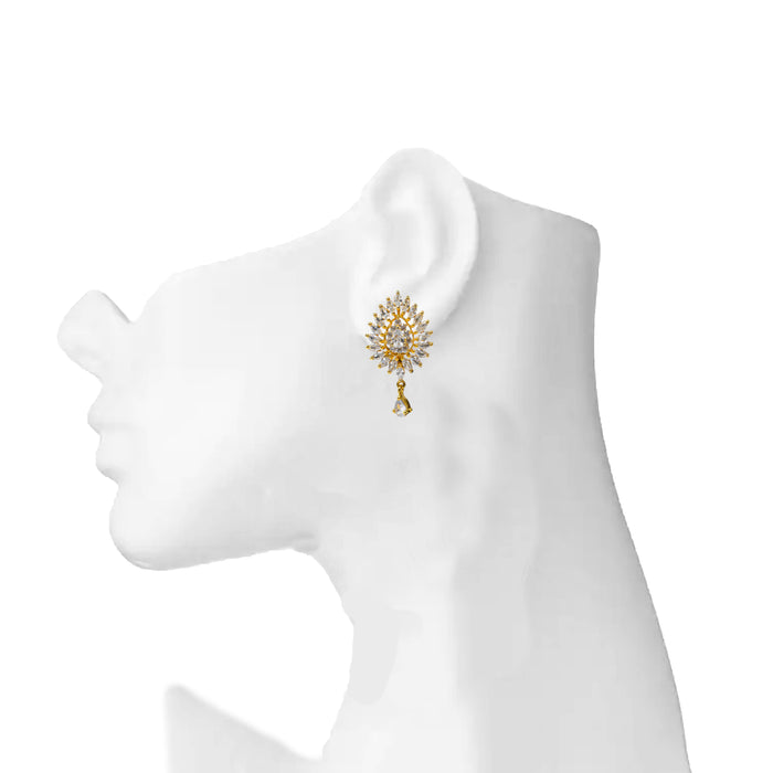 White American Diamond Earring