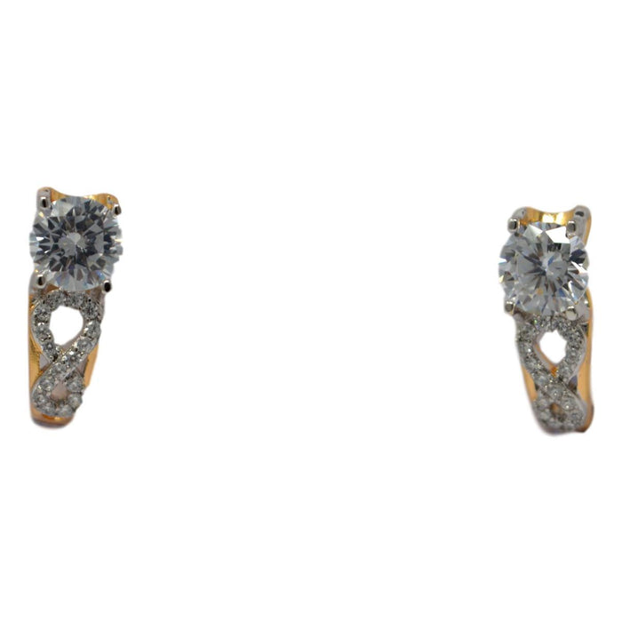 Silver American Diamond Earring Front View