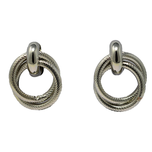 Silver Earring Front View