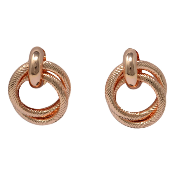 Rose Gold Earring Front View