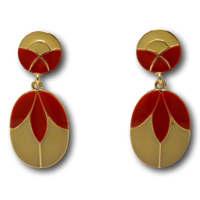 Red  Golden Earring Front View