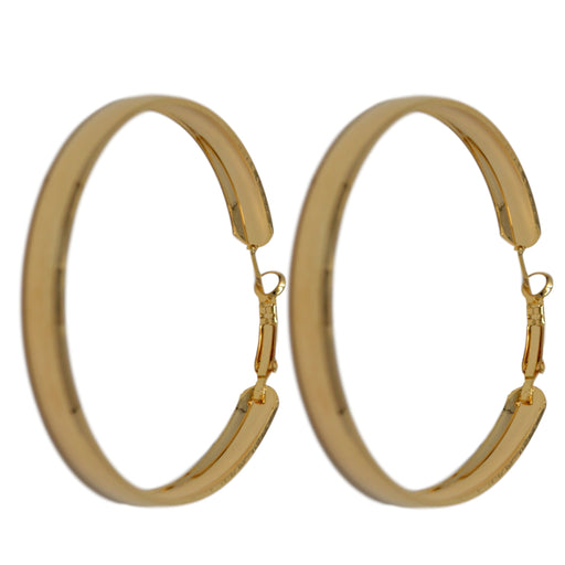 Golden Hoop Earring Front View