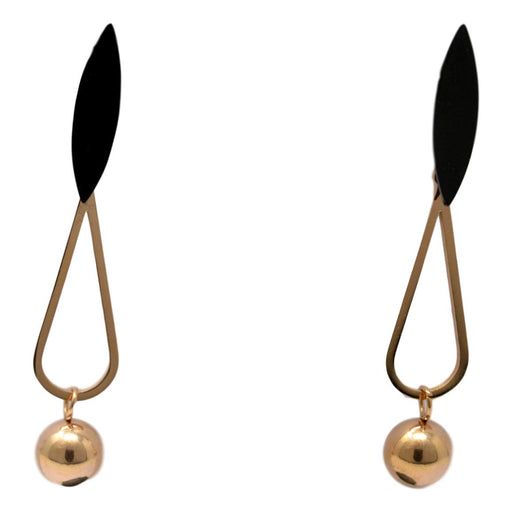 Black Golden Earring Front View
