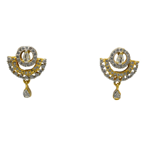 American Diamond Earring Front View