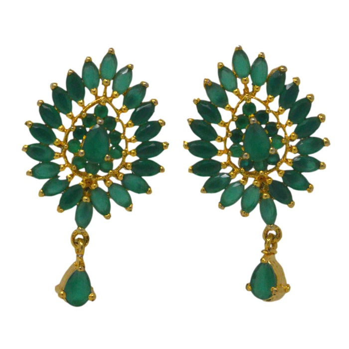 Green Stone Earring