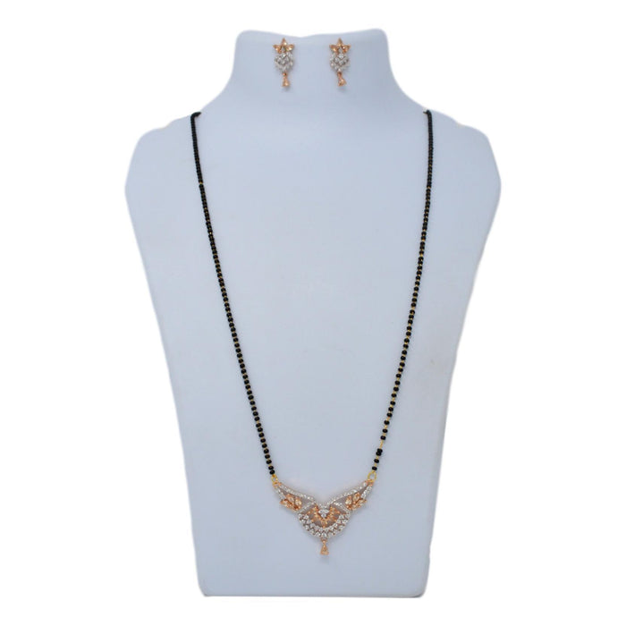 American Diamond Mangalsutra Set On Mannequin