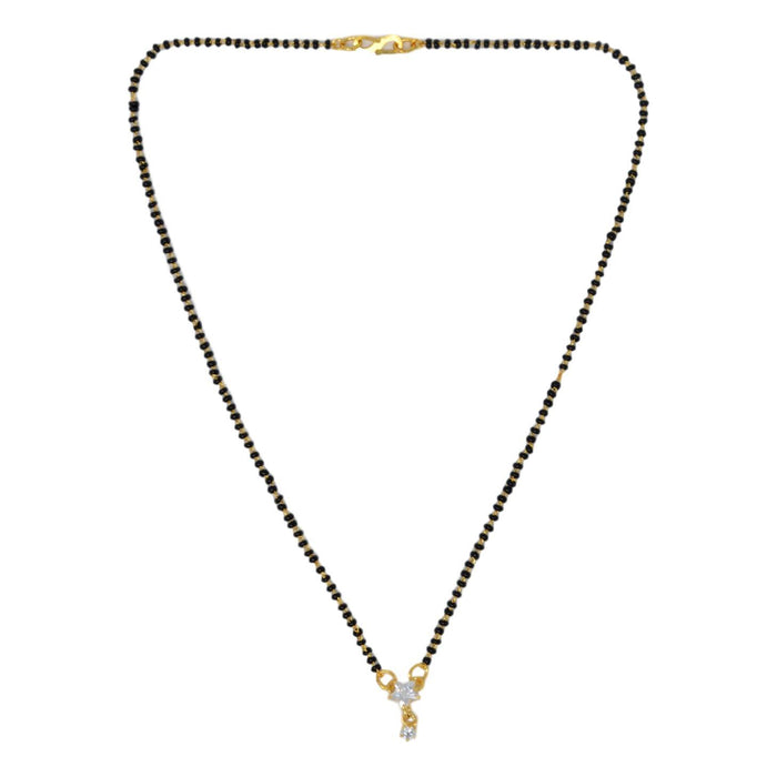 American Diamond Mangalsutra Top View