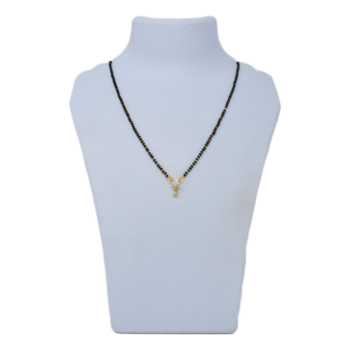 American Diamond Mangalsutra On Mannequin