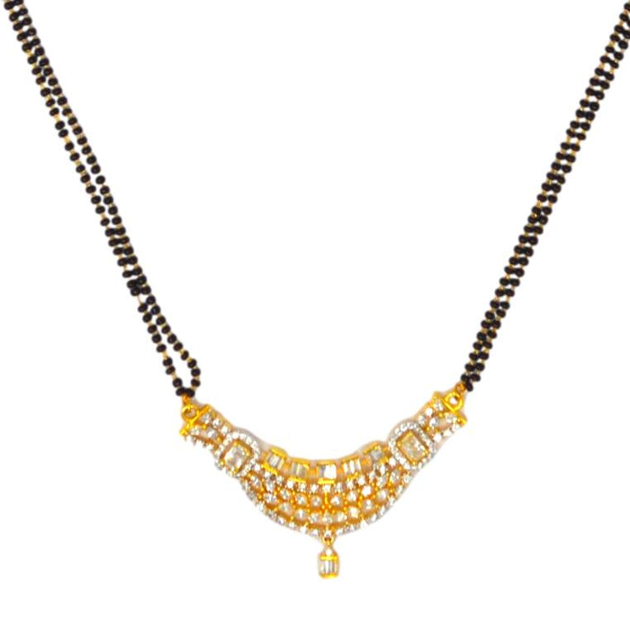 American Diamond Mangalsutra Set Earrings