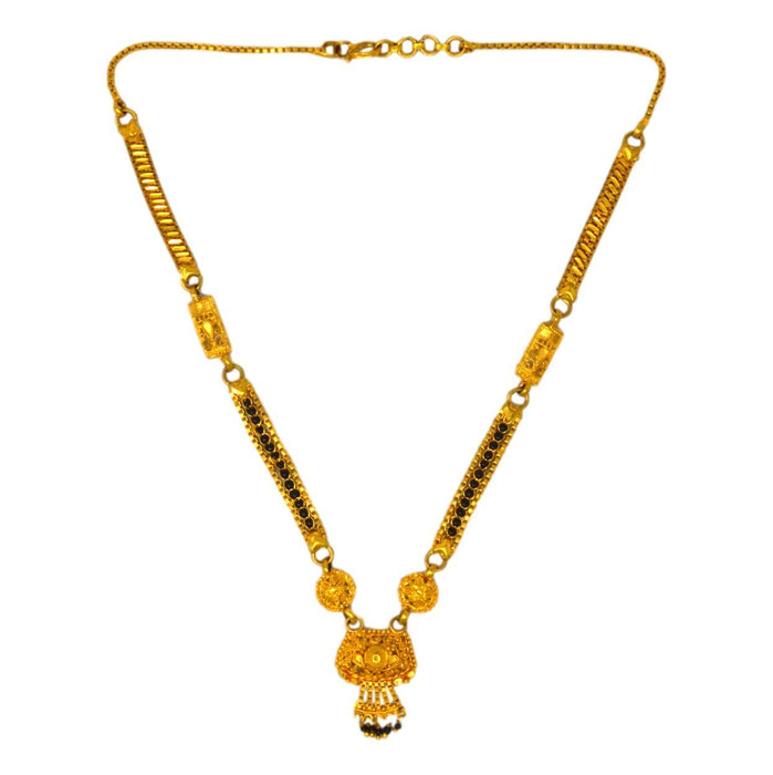 Gold Finish Patti Mangalsutra Top View