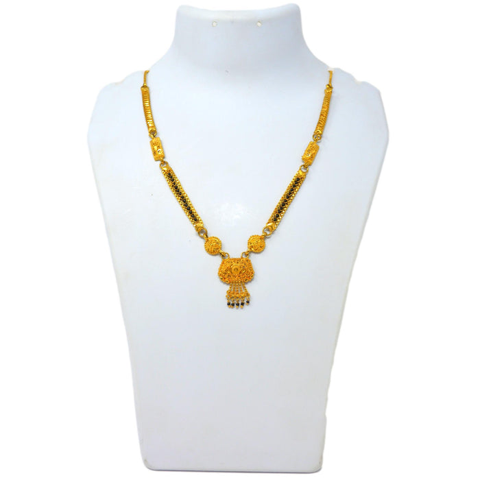Gold Finish Patti Mangalsutra On Mannequin