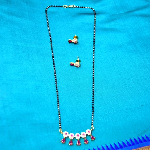Red Stone Mangalsuta Set