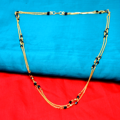 2 Layer Chain Black Beads Mangalsutra Color