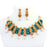 Temple & Green Jardosi Necklace Set  Front View On Mannequin