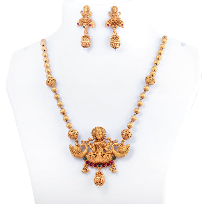 Laxmi Temple Necklace On Mannequin