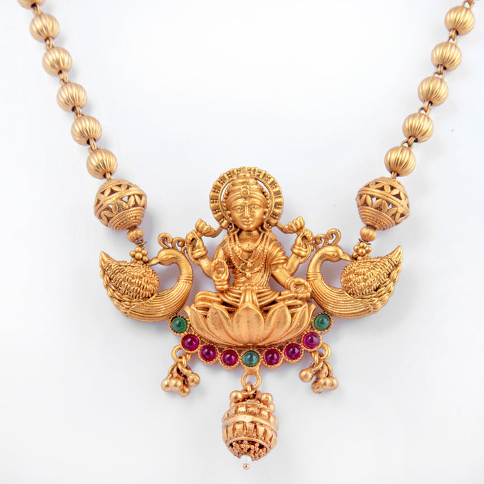 Laxmi Temple Necklace Closeup