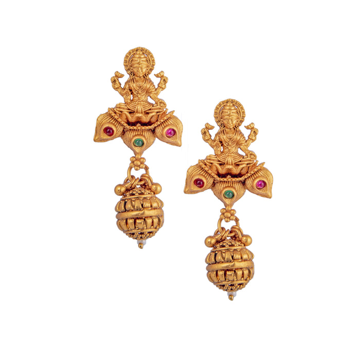 Laxmi Temple Earring Closeup