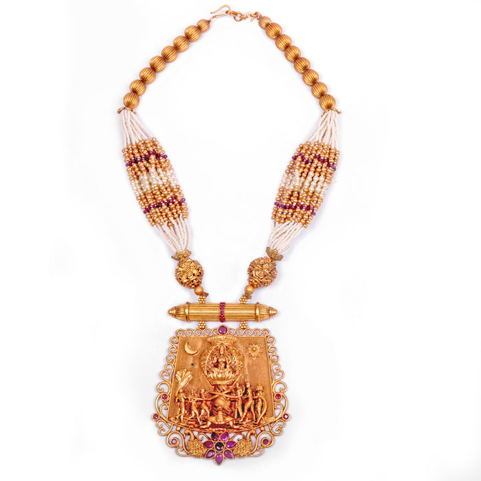 Samudra Manthan Pendent Moti Necklace Front View