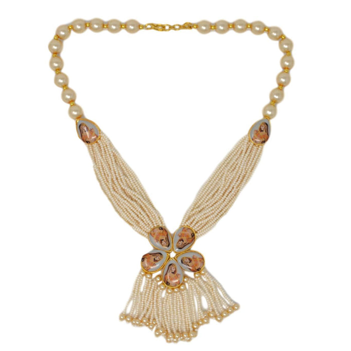 Moti Dhaga Necklace Set Top View