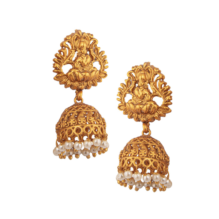 Laxmi Temple Necklace Earring
