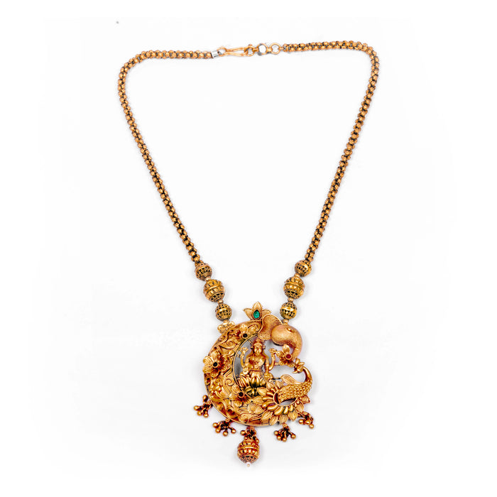 Laxmi Temple Necklace Front View
