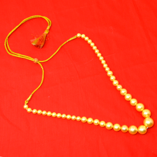 Golden Finish Moti Mala Necklace Color