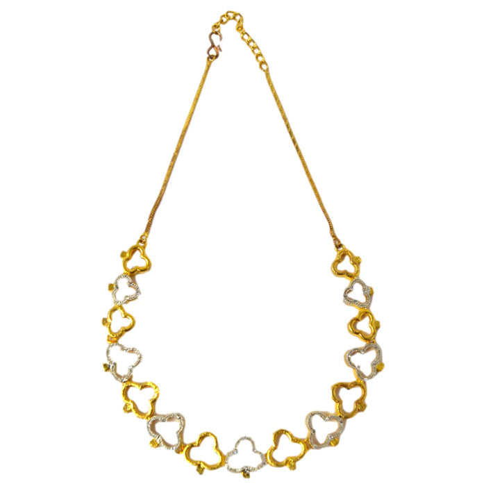 American diamond & gold Finish Necklace Set Top View