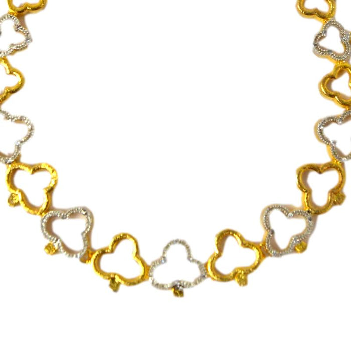 American diamond & gold Finish Necklace Set Close Up