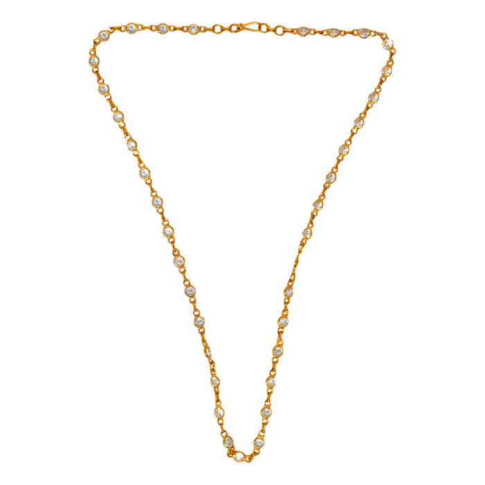 American Diamond Chain Necklace Top View