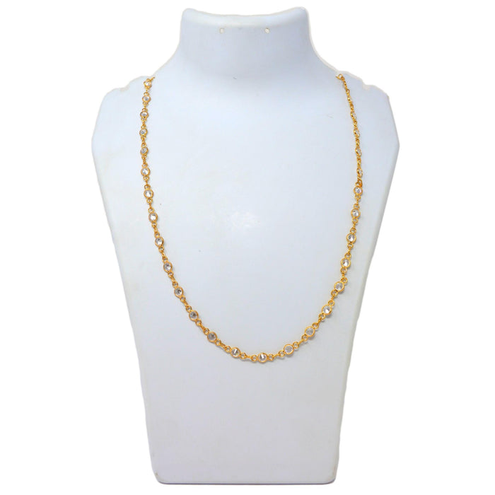 American Diamond Chain Necklace On Mannequin