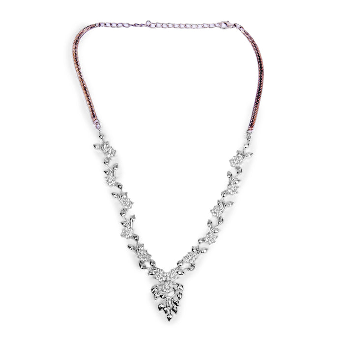 American Diamond Necklace  Front View