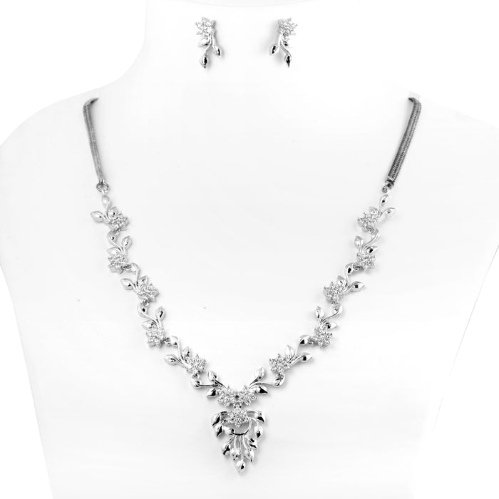 American Diamond Necklace Set On Mannequin