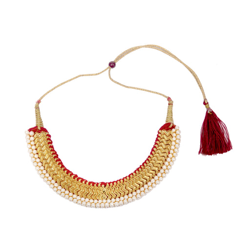 Moti Wajratik Necklace Front View