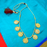 Gold Finish Laxmi Coin Necklace Color