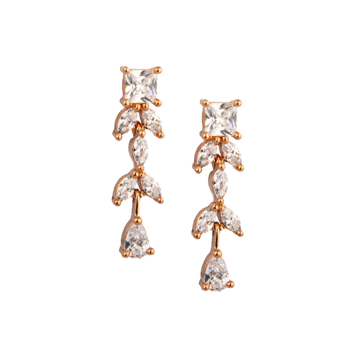 American-diamond-stone Earring Closeup