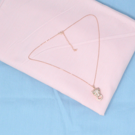 Rose Gold American Diamond Chain Pendant Color