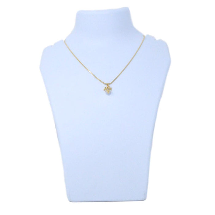 Golden American Diamond Chain Pendant Back View