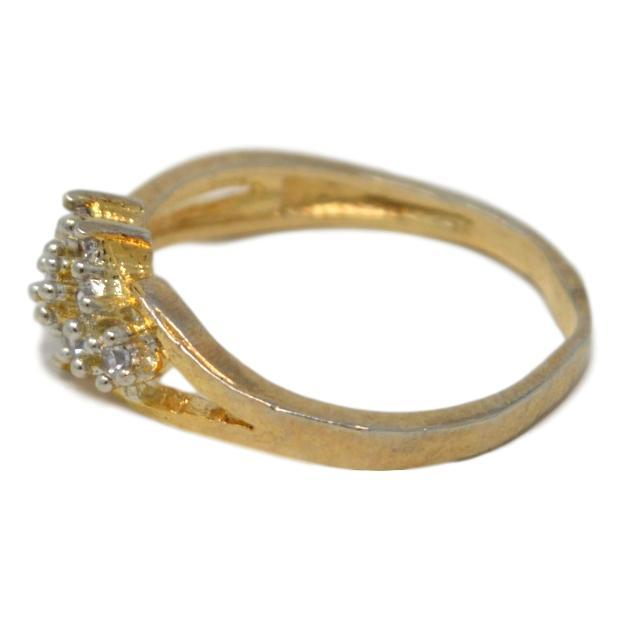 American Diamond Ring Side View