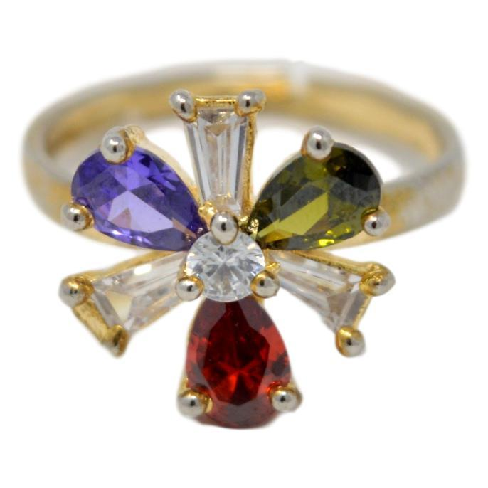 Colour Stone Ring Front View